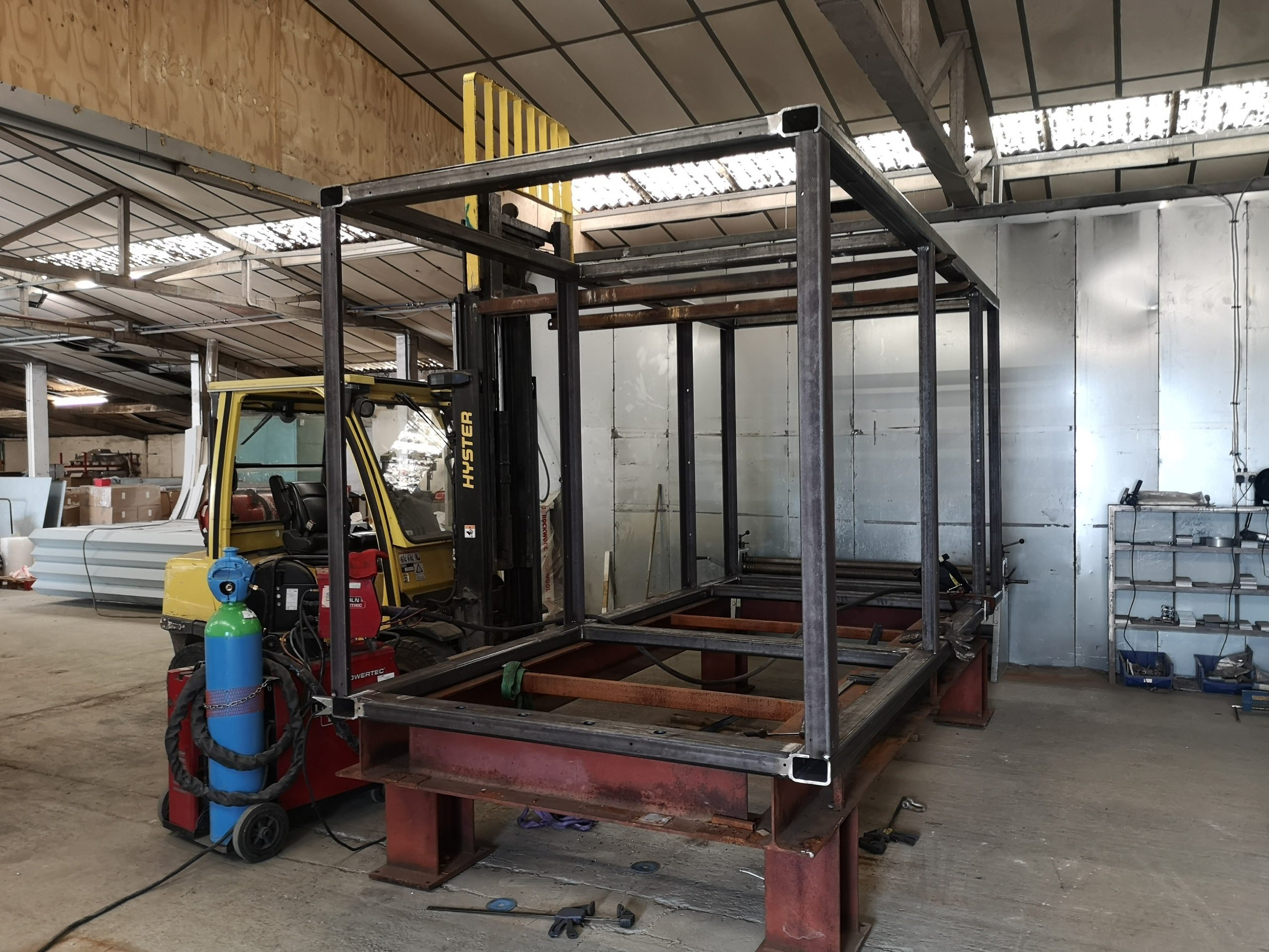 Heavy Box Steel Frame Chassis